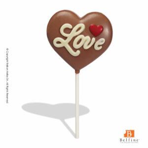Σοκολατένιο γλειφιτζούρι σε σχήμα καρδιάς
