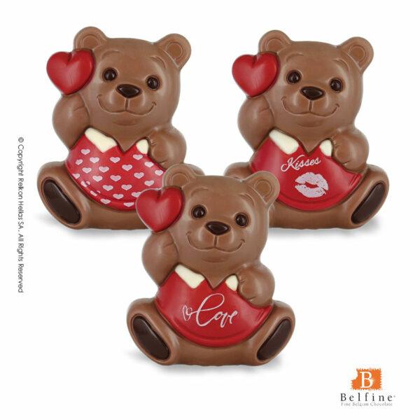 Belfine φιγούρες απο σοκολάτα γάλακτος σε 8 διαφορετικά σχέδια απο καθιστά αρκουδάκια. Ιδανικό για την γιορτή του Αγ.Βαλεντίνου.