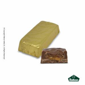 Σοκολατένια μακρόστενα κεράσματα γάλακτος με γέμιση καραμέλασ toffee