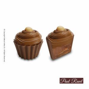 Σοκολατάκια cupcakes με βάση απο σοκολάτα γάλακτος και γέμιση ρευστής καραμέλας με αλάτι Ιμαλαίων και τελείωμα απο σοκολάτα καραμέλα και drop καραμέλας