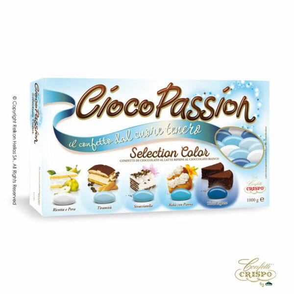 GLUTEN FREE ciocopassion selection μπλέ μεδιπλή σοκολάτα, πυρήνας λευκής και επικάλυψη γάλακτος, με λεπτή επίστρωση ζάχαρης. Ιδανικά για Γάμο, βάπτιση και candy bar.
