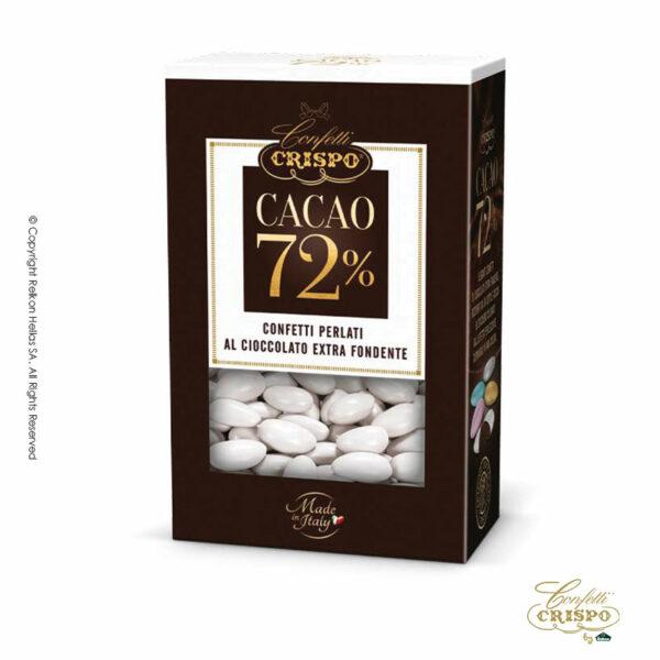 GLUTEN FREE περλέ λευκό με σοκολάτα υγείας 72% και λεπτή επίστρωση ζάχαρης σε χρυσό χρώμα. Ιδανικά για γάμο, candy bar και events.