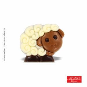 Martinez φιγούρα απο σοκολάτα γάλακτος και λευκή σε σχέδιο προβατάκι. Ιδανικό για το Πάσχα.