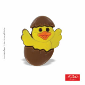 Martinez φιγούρα απο σοκολάτα γάλακτος σε σχέδιο κοτοπουλάκι μεσα σε αυγό. Ιδανικό για το Πάσχα.