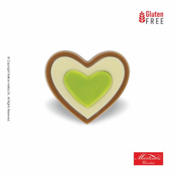 Σοκολατένιες φιγούρες σε σχήμα καρδιάς