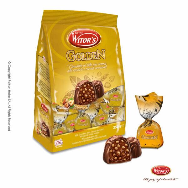 Σοκολατάκια γάλακτος με απαλή γέμιση κρέμας φουντουκιού και τραγανά δημητριακά