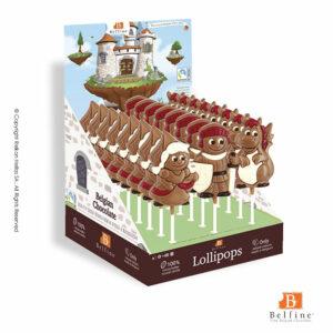 Σοκολατένια γλειφιτζούρια με φιγούρες απο πριγκίπισσες, ιππότες και δράκους