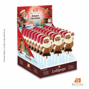 Belfine display απο γλειφιτζούρια σοκολάτας γάλακτος και λευκής σε σχήμα Αγ. Βασίλη. Ιδανικό δώρο για τα Χριστούγεννα.