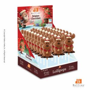 Belfine display απο γλειφιτζούρια σοκολάτας γάλακτος σε σχήμα τάρανδου. Ιδανικό δώρο για τα Χριστούγεννα.