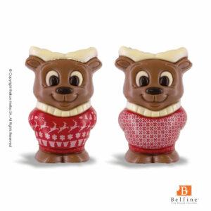 Belfine φιγούρες απο σοκολάτα γάλακτος σε σχήματα τάρανδου. Ιδανικό δώρο για τα Χριστούγεννα.