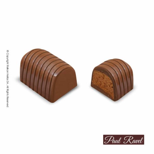 Πραλίνες σοκολάτας γάλακτος με γέμιση απο κρέμα μπισκότου κανέλας και κομματάκια μπισκότου