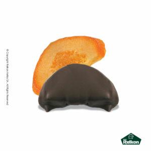 Σοκολάτα υγείας με μισή φέτα πορτοκαλιού