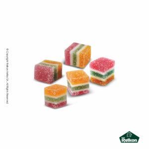 Κυβάκια ζελέδες με mix γεύσεις φρούτων. Ιδανικά για παιδικά party και events.