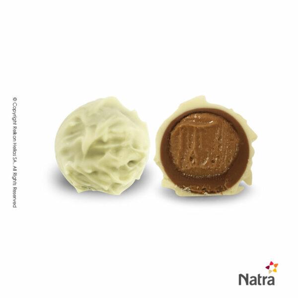 Τρούφες λευκής σοκολάτας και γέμιση πραλίνα με baileys