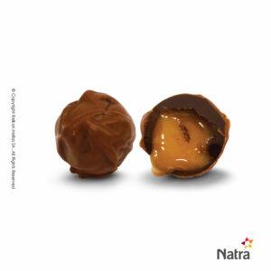 Τρούφες υγείας με γεμιση αλατισμένης καραμέλας και επικάλυψη σοκολάτας γάλακτος