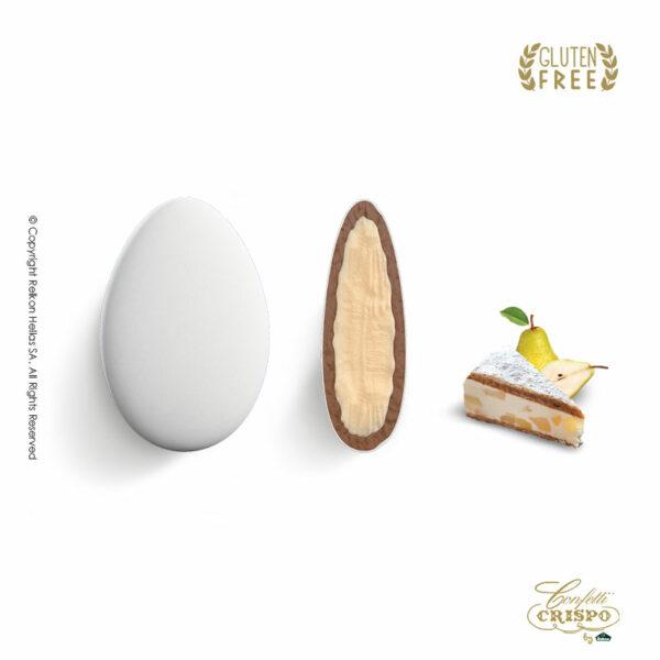 GLUTEN FREE ciocopassion Διπλή Σοκολάτα, πυρήνας λευκής και επικάλυψη γάλακτος, με λεπτή επίστρωση ζάχαρης και γεύση Ricotta Pera. Ιδανικό για γάμους, βαπτίσεις και candy bar.