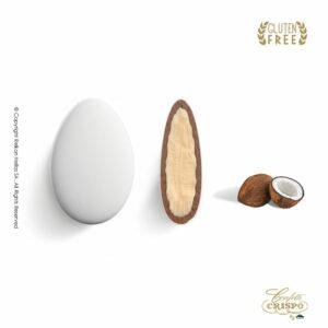 GLUTEN FREE ciocopassion Διπλή Σοκολάτα, πυρήνας λευκής και επικάλυψη γάλακτος, με λεπτή επίστρωση ζάχαρης και γεύση Καρύδα. Ιδανικό για γάμους, βαπτίσεις και candy bar.