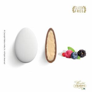 GLUTEN FREE ciocopassion διπλή σοκολάτα, πυρήνας λευκής και επικάλυψη γάλακτος, με λεπτή επίστρωση ζάχαρης και γεύση φρούτα του δάσους. Ιδανικό για γάμους, βαπτίσεις και candy bar.