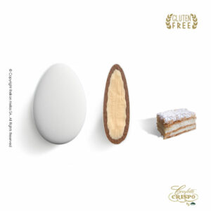 GLUTEN FREE ciocopassion διπλή σοκολάτα, πυρήνας λευκής και επικάλυψη γάλακτος, με λεπτή επίστρωση ζάχαρης και γεύση μιλφέιγ. Ιδανικό για γάμους, βαπτίσεις και candy bar.