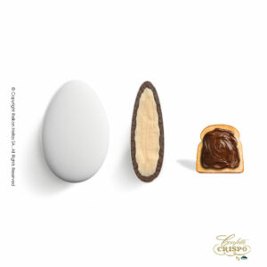 Ciocopassion διπλή σοκολάτα, πυρήνας λευκής και επικάλυψη γάλακτος, με λεπτή επίστρωση ζάχαρης και γεύση πάστας φουντουκιού. Ιδανικό για γάμους, βαπτίσεις και candy bar.