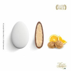 GLUTEN FREE Ciocopassion διπλή σοκολάτα, πυρήνας λευκής και επικάλυψη γάλακτος, με λεπτή επίστρωση ζάχαρης και γεύση Amaretto πορτοκάλι. Ιδανικό για γάμους, βαπτίσεις και candy bar.