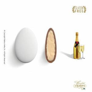 GLUTEN FREE Ciocopassion διπλή σοκολάτα, πυρήνας λευκής και επικάλυψη γάλακτος, με λεπτή επίστρωση ζάχαρης και γεύση σμπάνια. Ιδανικό για γάμους, βαπτίσεις και candy bar.