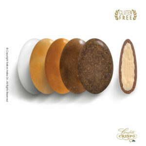 GLUTEN FREE ciocopassion selection καφέ με διπλή σοκολάτα, πυρήνας λευκής και επικάλυψη γάλακτος, με λεπτή επίστρωση ζάχαρης. Ιδανικά για Γάμο, βάπτιση και candy bar.