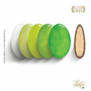 GLUTEN FREE ciocopassion selection πράσινο με διπλή σοκολάτα, πυρήνας λευκής και επικάλυψη γάλακτος, με λεπτή επίστρωση ζάχαρης. Ιδανικά για Γάμο, βάπτιση και candy bar.