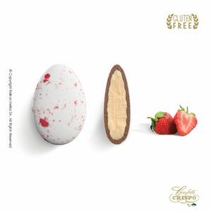 GLUTEN FREE Ciocopassion διπλή σοκολάτα, πυρήνας λευκής και επικάλυψη γάλακτος, με λεπτή επίστρωση ζάχαρης και γεύση φράουλα. Ιδανικό για γάμους, βαπτίσεις και candy bar.