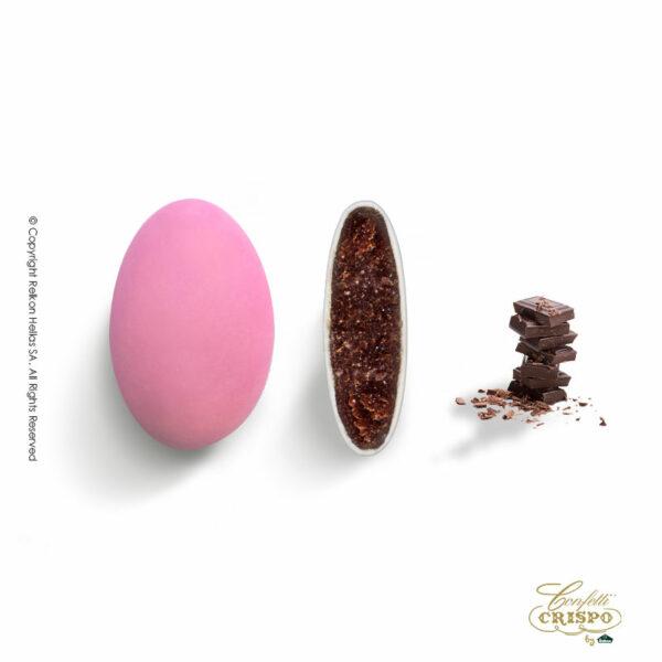 Σοκολάτα υγείας 72% και λεπτή επίστρωση ζάχαρης σε ρόζ χρώμα. Ιδανικά για γάμο, βάπτιση, candy bar και events.