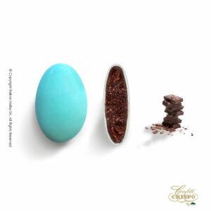 Σοκολάτα υγείας 72% και λεπτή επίστρωση ζάχαρης σε μπλέ χρώμα. Ιδανικά για γάμο, βάπτιση, candy bar και events.