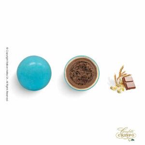 Γαλάζια με crispies δημητριακά με κακάο, επικάλυψη διπλής σοκολάτας (γάλακτος και λευκής) με λεπτή επίστρωση ζάχαρης. Ιδανικά για candy bar, parties και events.