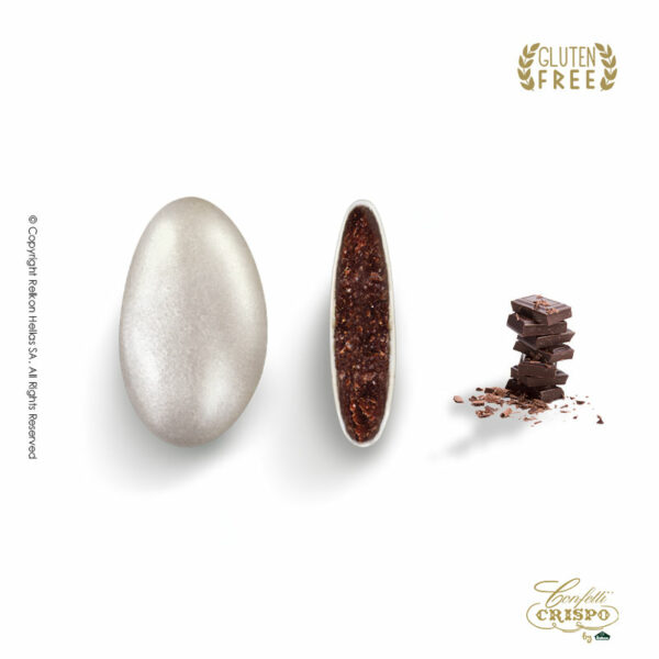 GLUTEN FREE περλέ ασιμή με σοκολάτα υγείας 72% και λεπτή επίστρωση ζάχαρης σε χρυσό χρώμα. Ιδανικά για γάμο, candy bar και events.