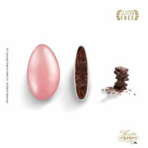 GLUTEN FREE περλέ ρόζ με σοκολάτα υγείας 72% και λεπτή επίστρωση ζάχαρης σε χρυσό χρώμα. Ιδανικά για γάμο, candy bar και events.