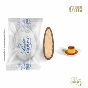 GLUTEN FREE Safe pack ciocopassion διπλή σοκολάτα, πυρήνας λευκής και επικάλυψη γάλακτος, με λεπτή επίστρωση ζάχαρης και γεύση Creme Caramele.