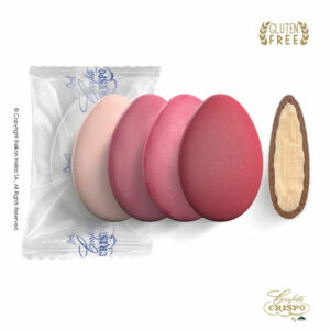 GLUTEN FREE Safe pack ciocopassion selection ρόζ, διπλή σοκολάτα, πυρήνας λευκής και επικάλυψη γάλακτος, με λεπτή επίστρωση ζάχαρης και σε πέντε γεύσεις.