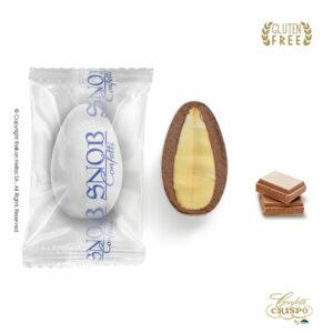GLUTEN FREE Safe pack Snob με ολόκληρο καβουρδισμένο αμύγδαλο, γέμιση σοκολάτας γάλακτος και λεπτή επίστρωση ζάχαρης. Ιδανικά για γάμο, βάπτηση, candy bar και events.