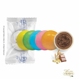 Safe pack, πολύχρωμα με crispies δημητριακά με κακάο, επικάλυψη διπλής σοκολάτας (γάλακτος και λευκής) με λεπτή επίστρωση ζάχαρης. Ιδανικά για candy bar, parties και events.