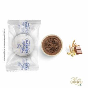 Safe pack, λευκό με crispies δημητριακά με κακάο, επικάλυψη διπλής σοκολάτας (γάλακτος και λευκής) με λεπτή επίστρωση ζάχαρης. Ιδανικά για candy bar, parties και events.
