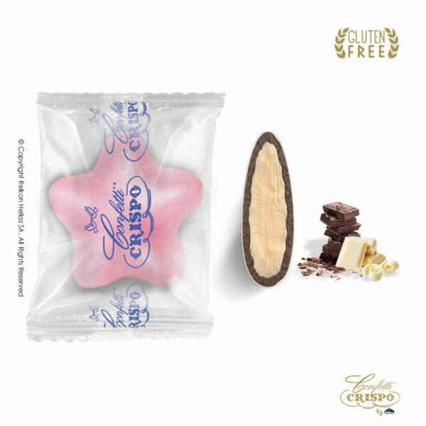 GLUTEN FREE Safe pack ciocostars ρόζ με διπλή σοκολάτα, πυρήνας λευκής και επικάλυψη υγείας. Ιδανικά για candy bar, parties και events.
