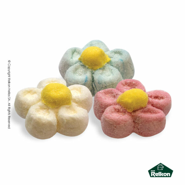Marshmallows μαργαρίτα 3D σε τρία διαφορετικά χρώματα (mix). Ιδανικά για παιδικά party, βάπτιση και events.