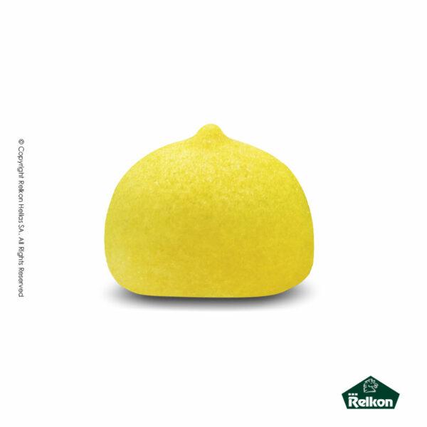 Marshmallows σε σχήμα μπάλας και σε χρώμα κίτρινο. Ιδανικά για παιδικά party, βάπτιση και events.