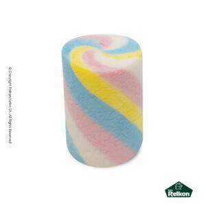 Marshmallows σε σχήμα κυλίνδρου και στρυφογυριστό πολύχρωμο σχέδιο. Ιδανικά για παιδικά party, βάπτιση, candy bar και events.