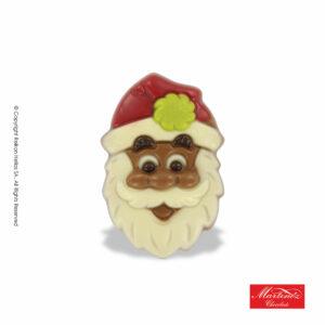 Martinez φιγούρα απο σοκολάτα γάλακτος και λευκή σε σχέδιο Αγ.Βασίλη με πράσινη φούντα. Ιδανικό για τα Χριστούγεννα.