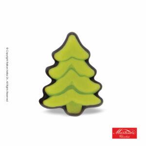 Martinez φιγούρα απο σοκολάτα υγείας και γέμιση marzipan σε σχέδιο δέντρου πράσινου. Ιδανικό για τα Χριστούγεννα.