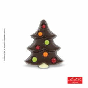 Martinez φιγούρα απο σοκολάτα υγείας σε σχέδιο δέντρου με πολύχρωμες διακοσμητικές μπάλες. Ιδανικό για τα Χριστούγεννα.