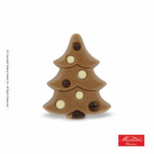 Martinez φιγούρα απο σοκολάτα γάλακτος σε σχέδιο δέντρου με διακοσμητικές μπάλες. Ιδανικό για τα Χριστούγεννα.