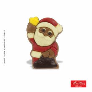 Martinez φιγούρα απο σοκολάτα γάλακτος σε σχήμα Αγ.Βασίλη με κίτρινο καμπανάκι. Ιδανικό για τα Χριστούγεννα.
