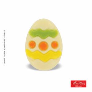 Martinez φιγούρα απο λευκή σοκολάτα σε σχέδιο πασχαλινό αυγό. Ιδανικό για το Πάσχα.