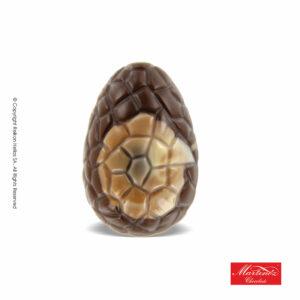 Martinez αυγό απο σοκολάτα υγείας με γέμιση πραλίνας με σχέδιο κοχύλι. Ιδανικό για το Πάσχα.